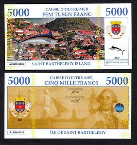 ILE-DE-SAINT-BARTHELEMY-BILLET-TEST-POLYMER-5000-FRANCS