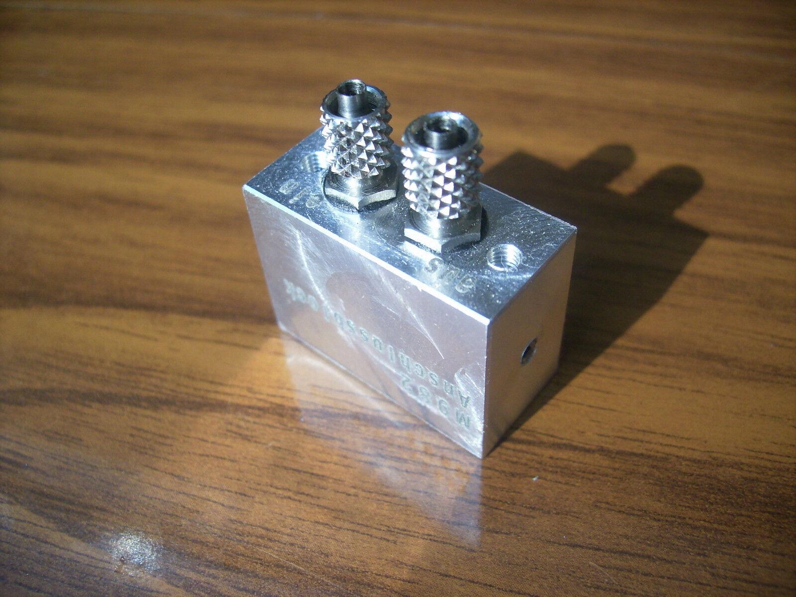 GBH 0132 idraulica Accensione/scarico blocco MODELLISMO dimensioni NUOVE
