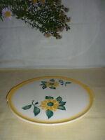 Tortenplatte Annaburg Keramik mit Blumendekor Blumen Dekor 1160 gemarkt