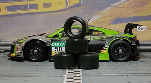 1//32 PAUL GAGE SLOT CAR TIRES 2pr PGT-20125LMXD fit CARRERA Audi R8 LMS