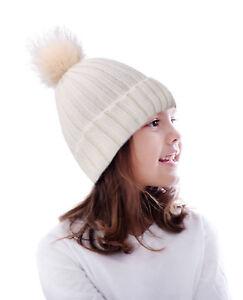 1a666475e8f Image is loading Unisex-Adult-Kids-Winter-Warm-Faux-Fur-Pom-