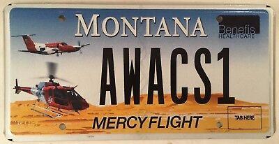 Metal License Plate Frame Vinyl Insert Awacs E-3 Sentry