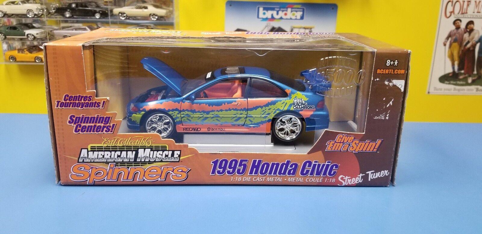 ERTL  AMERICAN MUSCLE STREET  TUNER SPINNERS 1995 HONDA CIVIC  1 OF 5000  NEW