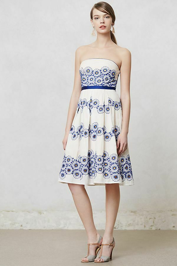 NEW Anthropologie Moulinette Soeurs Forget Me Not Dress Größe 6 MSRP