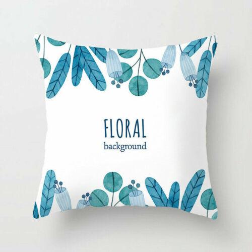 Tropical Polyester Plants Waist Throw Pillow Case Sofa Cushion Cover Home Decor