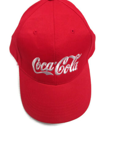 Coca-Cola Apollo Baseball Cap Hat Red with White Embroidered Logo BRAND NEW
