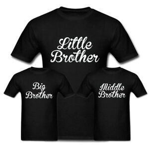 e2c0b955 Little Brother, Middle Brother, Big Brother Funny T Shirt Brother ...