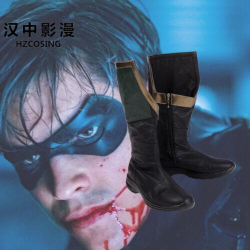 HZYM DC Superhero Titans Robin Cosplay Costume Nightwing Men Halloween SHOES