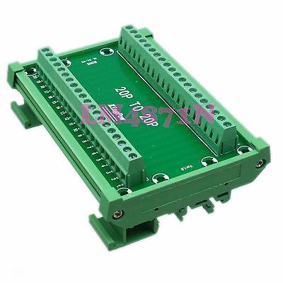 DIN Rail Mount Carrier 20-Pin ~ 20pin 20P Terminal Breakout Interface Module PLC