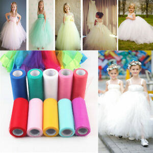 6-034-x-25-Yards-Tutu-Tulle-Rolls-Soft-Nylon-Netting-Skirts-Fabric-Wedding-Dresses