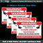 CCTV-Images-Recorded-Security-Stickers-home-amp-office-4-pack-of-decals-S513