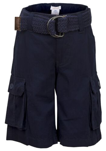 Garçons Enfants Casual Summer Holiday Beach Shorts Longueur Genou Avec Ceinture 100/% coton
