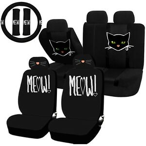 Swell Details About 22Pc Cat Lover Cute Friendly Pet Meow Seat Covers Steering Wheel Set Universal Pdpeps Interior Chair Design Pdpepsorg