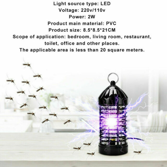 Electric Insect Fly Zapper Mosquito Bug Killer Trap UV Light LED J8P2