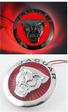 86mm Led Light Emble M Front Grille Badge For Jaguar Xf Xj Xjl Xk Red Growler