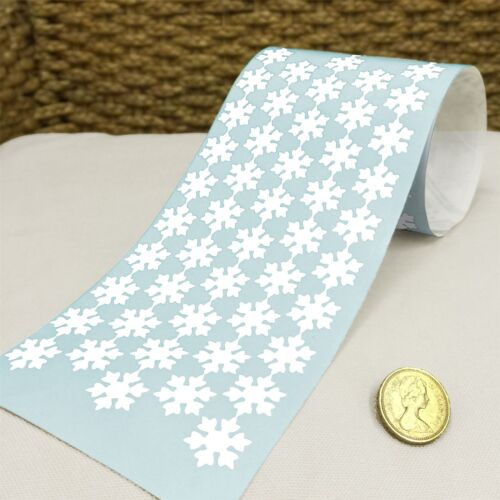144 Flower Shape Snowflake Vinyl Christmas Sticker 20mm Self Adhesive Wall 1000D