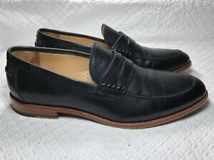 e38d5c6ff9f Warfield And Grand Men s Black Leather Penny Loafers 51005 Size-10 ...