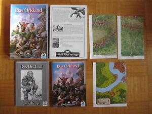 DAS ORKLAND - DSA Abenteuer Box 01774 Schwarze Auge Fantasie Spiel komplett