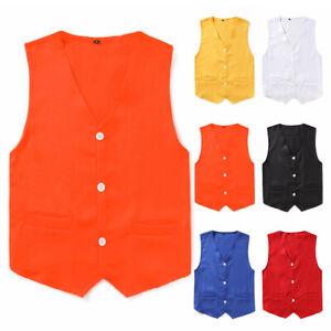 Kids-Boy-Vest-Waistcoat-Button-Down-Formal-Gentleman-Tuxedo-Formal-Party-Wedding