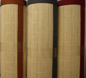 Feiner Bambus Teppich Hell Mit 3 Cm Bandeinfassung Restposten B Ware