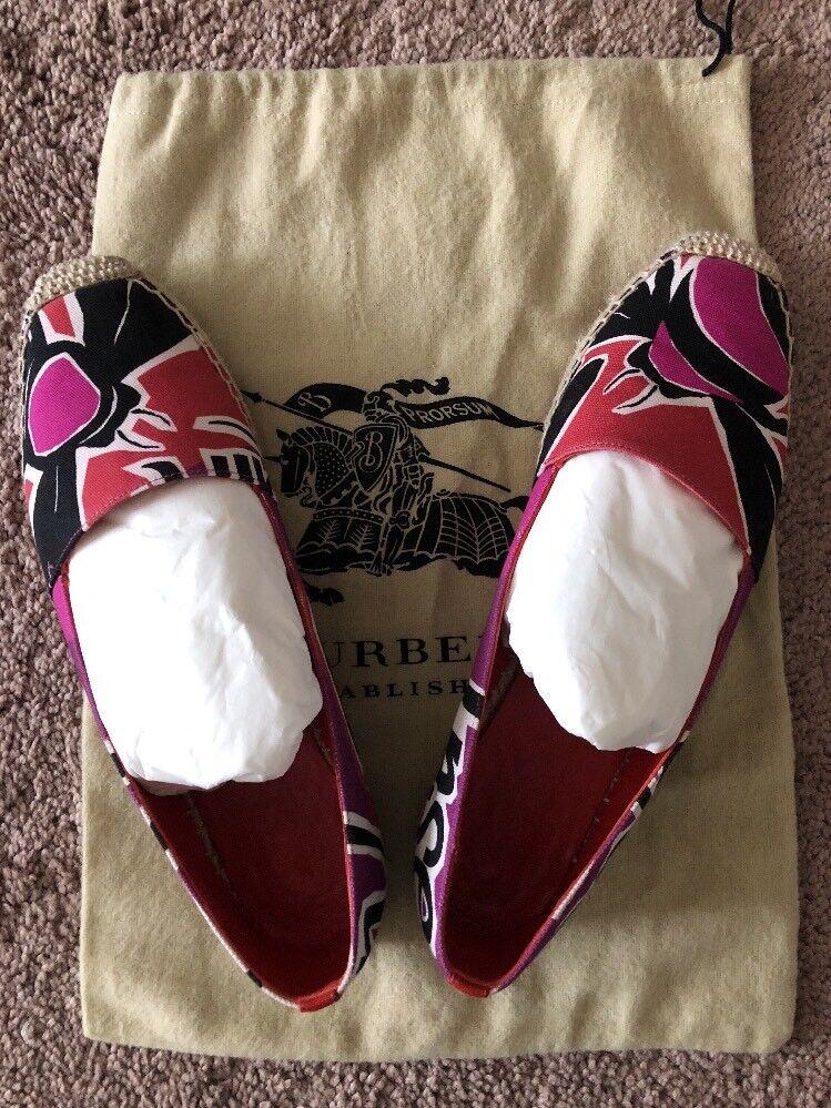 Burberry  Prorsum Donne Cotone   Leather Flats Sz 8  è scontato