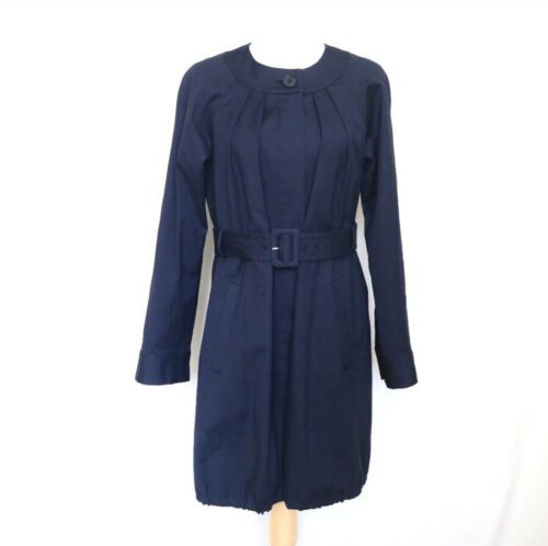 THEORY Women's Navy Blue Idola Connect Trench Coa… - image 1