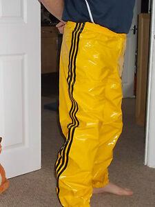 Pvc Track Pants Bottoms S 4xl Yellow Black Ebay