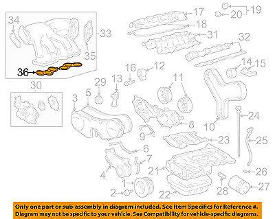 TOYOTA OEM Intake-Manifold Plenum Gasket 1717620010