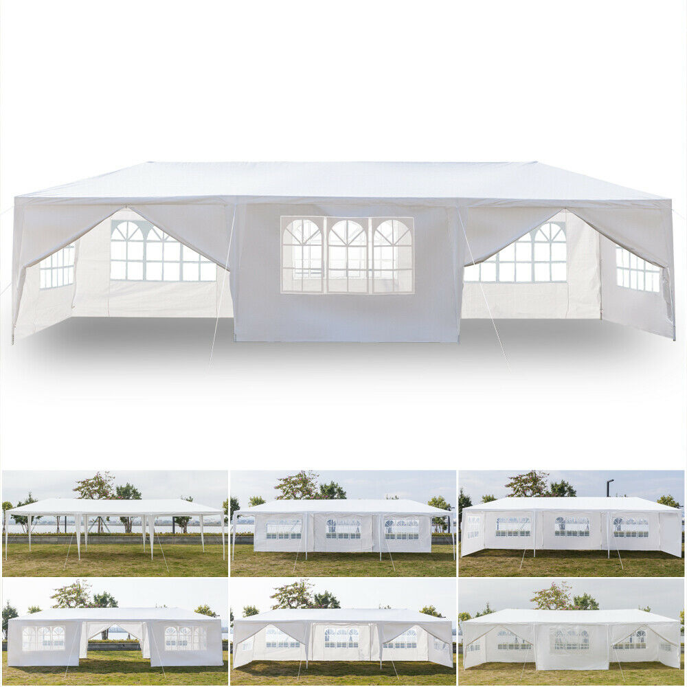 3 x 9m 8 Sides Two Doors Canopy Tent with Spiral Tubes White for Wedding Camping