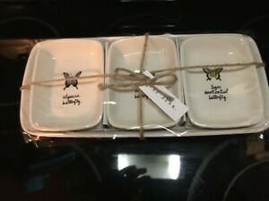Rae-Dunn-Artisan-Collection-By-Magenta-4-Piece-Butterfly-Theme-Tray-Plates-New