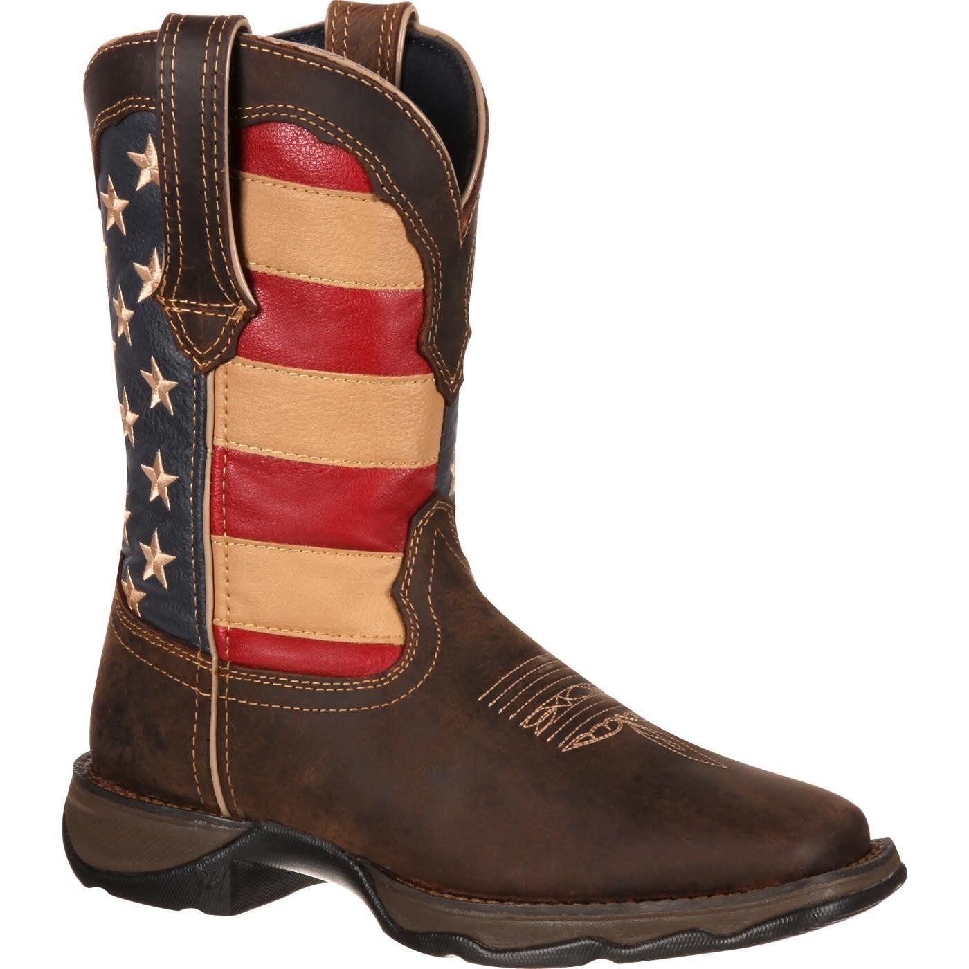 Durango Patriotic Flag Womens Brown 10