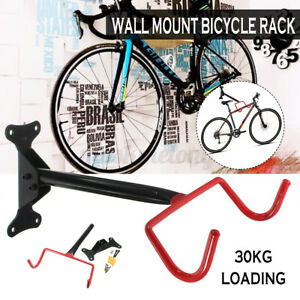 4pcs Wall Mount Bike Rack Hanger Bicycle Rubber Hook Holder Steel Storage Garage