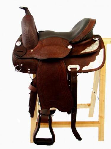 Baumloser Western sillín Wichita de acacia de búfalo sillín