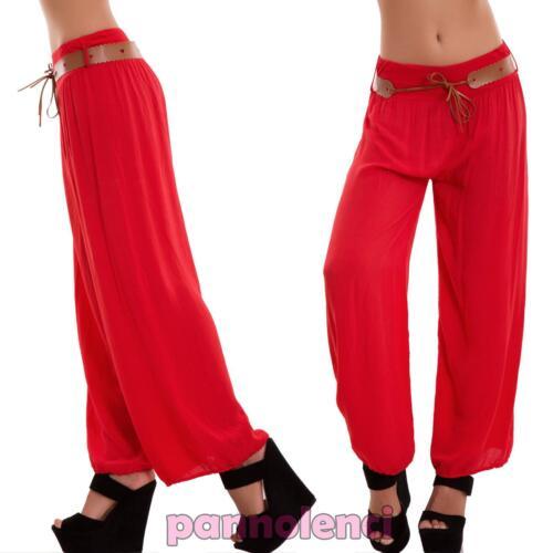 Pantaloni donna harem sarouel cavallo basso leggeri ampi elastico nuovi AS-6020