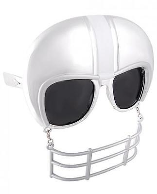 Sun Staches Football Helmet Men NFL Sunglasses Eye Glasses Funny Mask Gag Gift