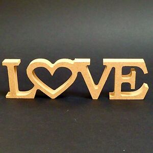 Image Is Loading Wooden Love Word Freestanding Ornament En Ement Party Or