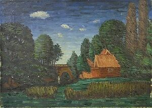 Impressionist-Gustav-Arnold-039-s-1881-1969-034-Night-Mood-034-evening-sunset-33-x-46
