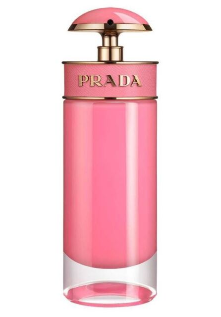 Prada Candy GLOSS Eau De Toilette 80ml PLAIN Cardboard Box Pink Glass Italy EDT