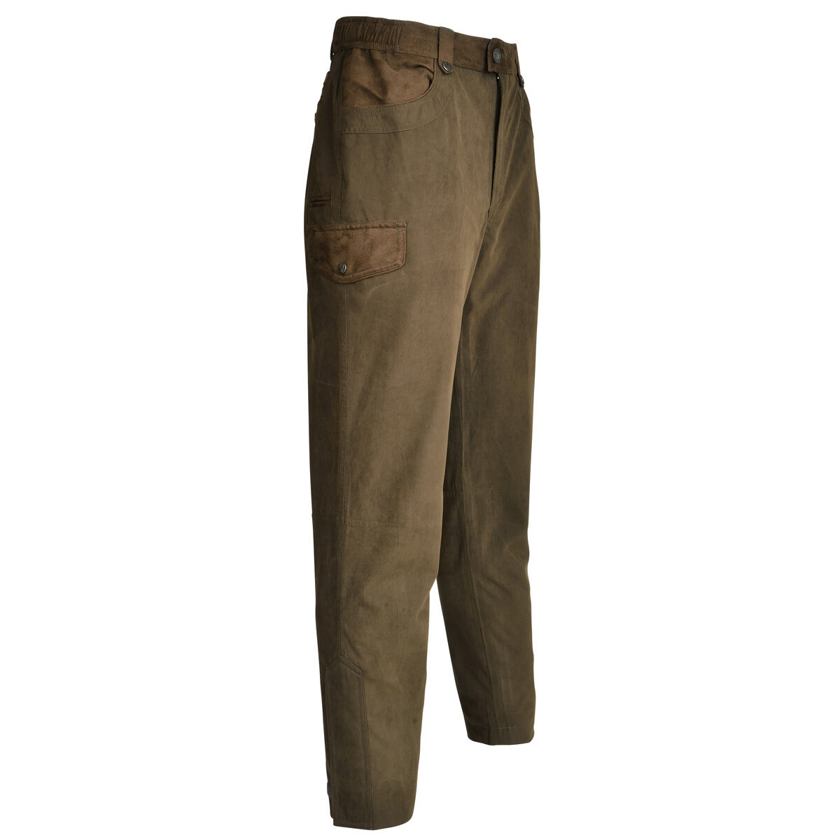 RAMBOUILLET HUNTING TROUSERS - KHAKI GREEN - Shooting Fishing Waterproof Pants