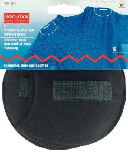 1 Pair Shoulder Pads Raglan S BLACK Fastening 993832