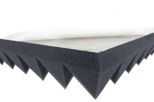 SELBSTKLEBEND Akustik Schaumstoff Dämmung 5cm Akustikpur Pyramidenschaumstoff