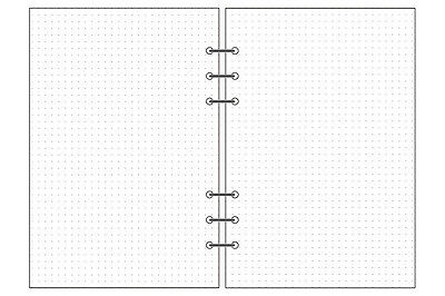 6 Holes Dot Grid Refills Inserts For Planner Notebook Diary /& Bullet Journal A5