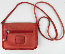 Fossil Pink / Peach Genuine Leather Shoulder Bag Small Purse Pre-owned