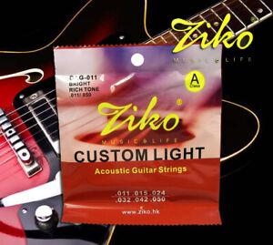 1 set ziko acoustic guitar strings brass ballad dag 011 6 cords ebay. Black Bedroom Furniture Sets. Home Design Ideas