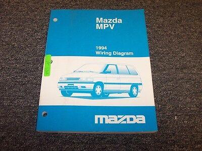 1994 Mazda MPV Van Original Electrical Wiring Diagram ...
