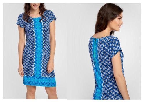 Hatley Kleid Tee Shirt Dress blau Blumen Henna Floral WD6HENA106