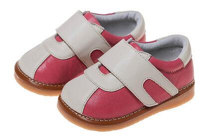 LITTLE BLUE LAMB Squeaky Shoes Schuhe Sneaker Halbschuhe Leder pink weiß NEU