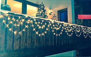 led lichterkette lichtervorhang 8 bogen au en balkon weihnachtsdeko 160 led s ne ebay. Black Bedroom Furniture Sets. Home Design Ideas