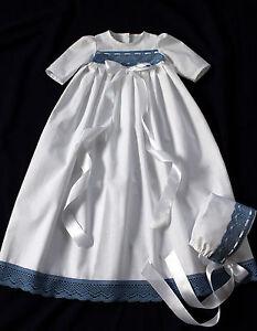 Junge Taufkleid 2 tlg. Mädchen  56-62-68-74-80-86  --- 100 /% BAUMWOLLE Baby