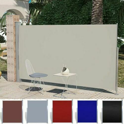 Retractable Privacy Screen Patio Deck Wall Side Awning ...